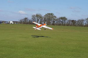 Graham Mills flys his latest aquisition