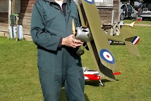 Mick Prior with his Maxford USA Kit built model
