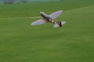 TK s Spitfire lifts off
